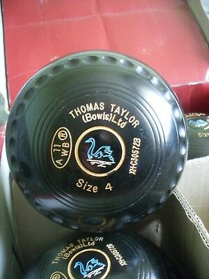 Taylor Ace  Bowls Size 4  Xheavy With Grips And Swan Emblem Wb 11 Stamp
