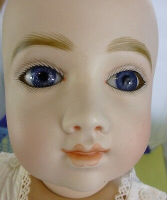 A. THUILLIER , A.T replica ANTIQUE DOLL with body & underwear, Vintage Doll