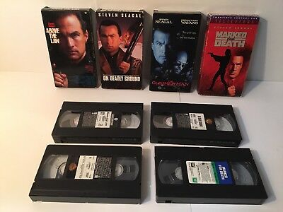 Steven Seagal VHS Tape Lot Above The Law Marked For Death Auction Finds 702