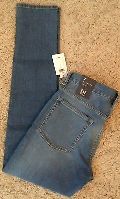 NWT Gap Boy's High Stretch Slim With Fantastiflex Adjustable Waist Jeans Sz14