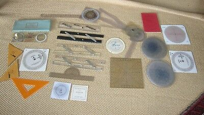Assorted nautical course plotting instruments