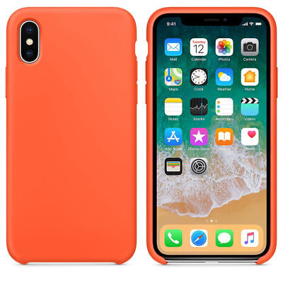 Original Silicone Luxury Ultra-Thin Case for Apple iPhone 6 Plus Orange  Free