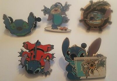 Lot de 5 Pin's Disney STITCH - Lot n°2