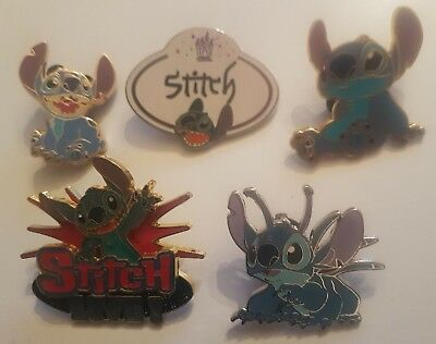 Lot de 5 Pin's Disney STITCH - Lot n°8