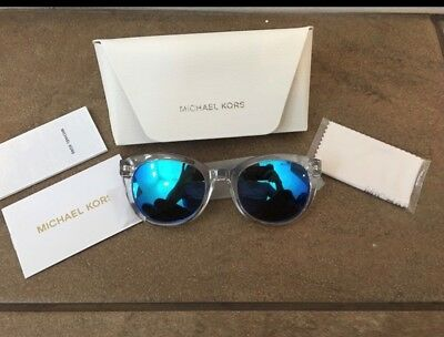 NEW! Auth Michael Kors Oval Mirrored Champagne Beach Sunglasses MK6019 Womens