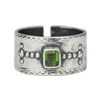 Tabra 925 Silver and Faceted Aquamarine Tourmaline Ring from Esme OOK226 Sz (9)