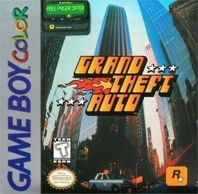 Grand Theft Auto Gameboy Color Gbc Game