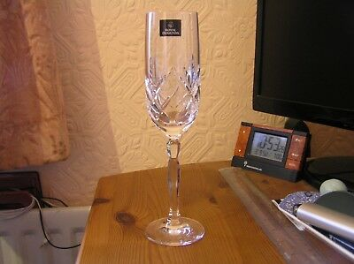 Royal Doulton Daily Mail Crystal Champagne Glass New Xmas Wedding Birthday Gift