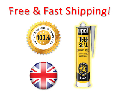 U-Pol Tiger Seal Black Adhesive Sealant Glue->Limited Special Price! Made In Uk