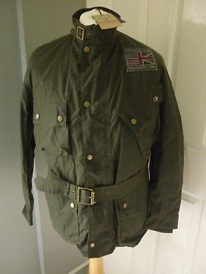 Barbour Steve Mcqueen Joshua Wax Jacket,reduced From £379,s,m Or Large