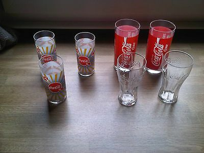 lot de 7 verres publicitaires COCA-COLA collection bistrot bar neuf