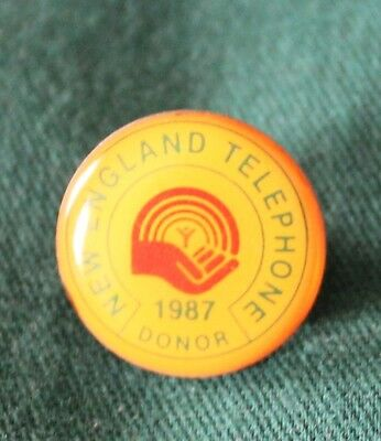 Vintage New England Telephone,United Way Donor Pin - Great condition.