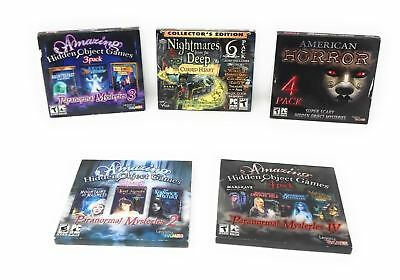 Hidden Objects PC Games, Horror/Mystery, Lot of 5