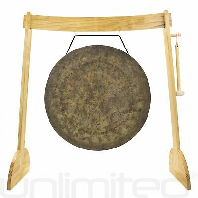 "32"" to 40"" Gongs on the Large Lunaphonic Wood Gong Stand (Chinese NASA Style)"