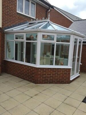 UPVC Complete Conservatory from new build with Glass Roof