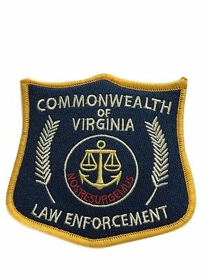 The Walking Dead Commonwealth of Virginia Law Enforcement Embroidered Patch