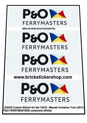 DHL Containers Lego® Pre-Cut Alternative Stickers for MAERSK Train 10219