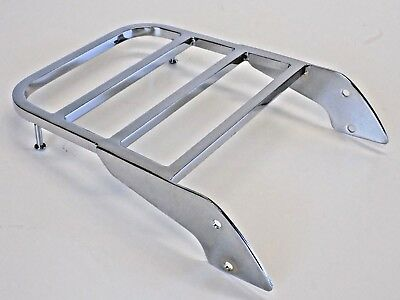 Motorcycle Chrome Steel Sissy Bar Luggage Rack Harley Style