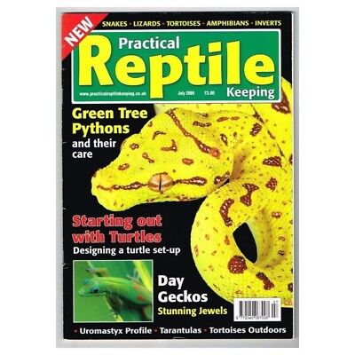 Practical Reptile Keeping Magazine July 2009 MBox1746 Green Tree Pythons