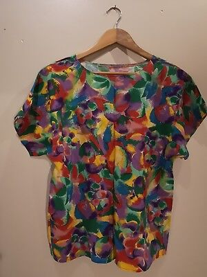Vintage Two Peice 80s 90s Top And Midi Skirt Size 12 14