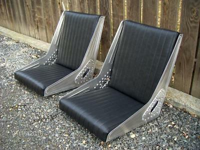 Bomber Style Seats Hot Rod Rat Rod Custom Aluminum Tuck And