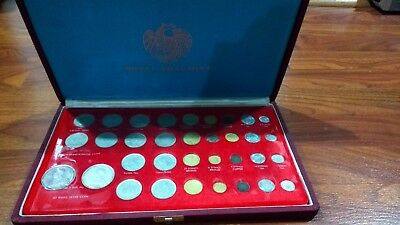 Royal Thai mint set 34 coins