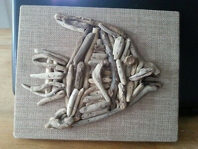 Handmade Driftwood Picture of a fish