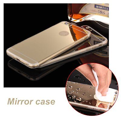Luxury Ultra-thin Soft Silicone TPU Mirror Case Cover For Apple iPhone/SamsungV2