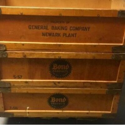 Bond Bread General Baking Company Newark NJ  Wood Wooden Box Crate 36 x 24 x 12""
