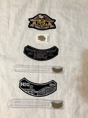 2018 & 2019 Harley Davidson Hog Pin/patch Sets + Hog Patch/pin Set