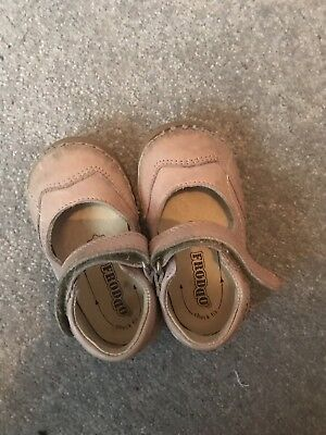 Dotty Fish-Soft Leather Baby & Toddler Shoes-Girls-Pink Birds - 6-12