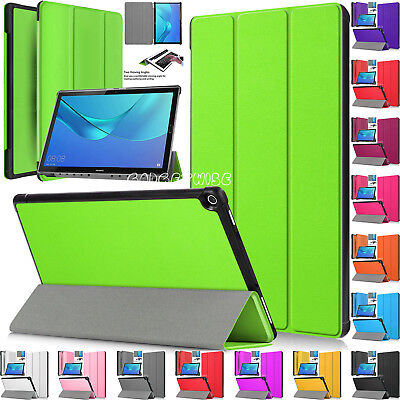 """Magnetic Leather Smart Stand Cover Case For Huawei MediaPad M5 10 (Pro) 10.8"""" In"""