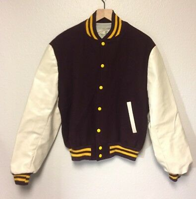 Amazing Rare Vintage Champion Letterman Jacket Blank In New Condition Size Large