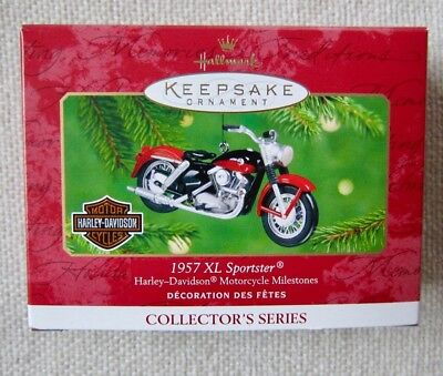 "Harley-Davidson Hallmark Collector's  Series Xmas Ornament 1957 ""xl Sportster"""