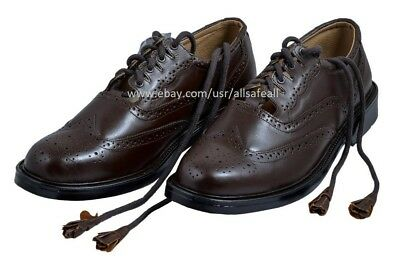 Ghillie Brogues Brown Leather Ghillie Brogues Scottish Kilt Shoes UK Sizes 7-12