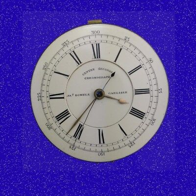 Dowell of Carlisle 19 Jewel Seconds Chronograph Fusee Watch Movement 1885