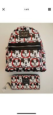 5191e8f1377 Disney Parks Loungefly Mickey Mouse Club Mini Backpack Purse   Wallet Set  NEW