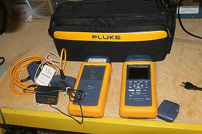 Nice Fluke Dsp-4000 Cable Analyzer With Dsp-4000Sr Smart Remote Dsp-Lia011 Hwy