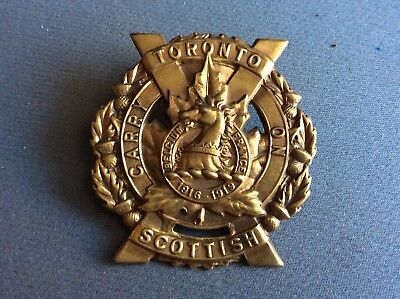 WW2 Canadian Army CAP BADGE Toronto Scottish Regiment Canada WWII
