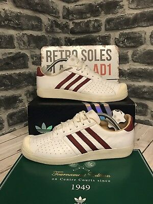 huge selection of b7bbe fa48c Adidas Originals Forest Hills Tournament 72 Ltd Edition UK Size 10 White  Leather