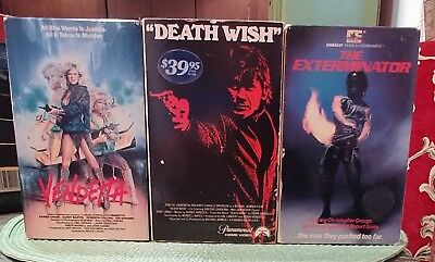 Vintage Beta Tapes Action Vestron Vendetta And More Rare