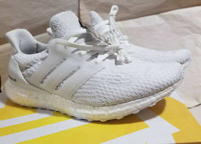 dc9549cc1300e adidas Ultra Boost 3.0 Running Shoes Triple White Crystal Women s W 11  BA7686