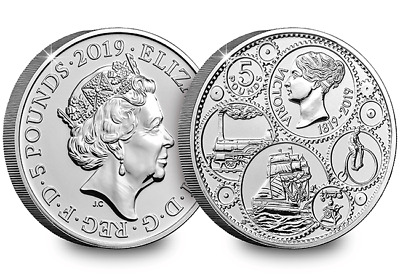 2019 Certified BU £5 Five Pound Coin Queen Victoria BUNC Sealed On Card.