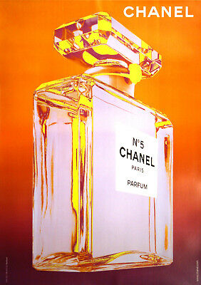 Original Vintage Fashion Poster Chanel Bottle Jean Daniel Lorieux 2010 Pop Art