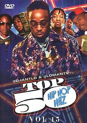 Quavo, 1Playy, Wrld, Eminem- 'top 50 Hip Hop Hitz 15'..dvd..music Videos.. 2019