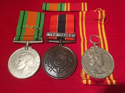 Fire Brigade service medals WW2 Liverpool  John Henry Pearson Rokeby St