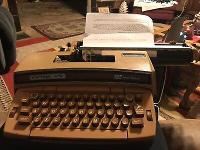 Smith Corona Coronet Super 12 Electric Typewriter Brown In Case Tested Works