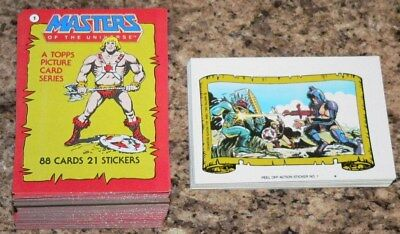 . Masters of the Universe 1984. COMP. 88 card & 22 sticker set. 100% CLEAN. MINT
