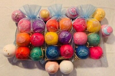 18 X Premium Quality Bath Bombs Lot of 18 Various Types - Perfect for a Gift Set