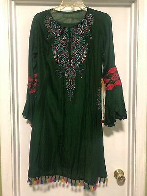 Pakistani ,indian kurti Embroidery shirt.